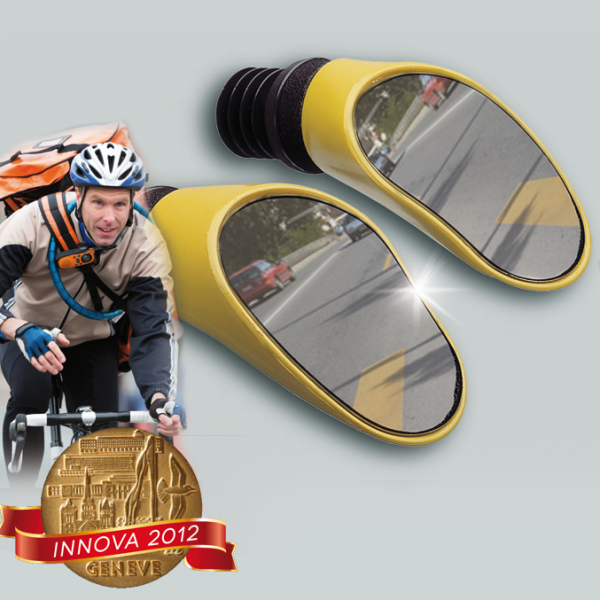 Streining rétroviseur racing sprintech jaune paire